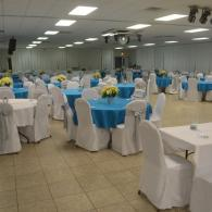 Carribean Blue & White Reception