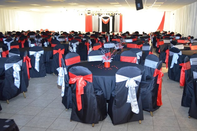 Red And Silver Wedding
