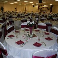 White & Burgundy Reception