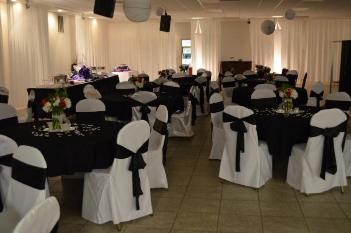 Black and white wedding reception images for Black and white reception tables